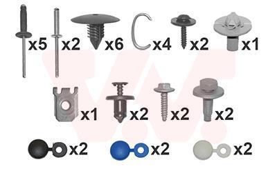 Kit d'assemblage, pare-chocs VAN WEZEL 4341794