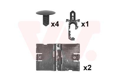Kit d'assemblage, capot-moteur VAN WEZEL 4373797