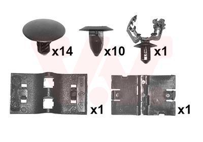 Kit d'assemblage, capot-moteur VAN WEZEL 4407797
