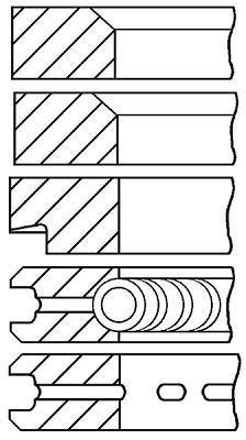 Jeu de segments de pistons GOETZE 08-313400-00