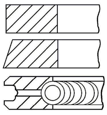Jeu de segments de pistons GOETZE 08-152003-00