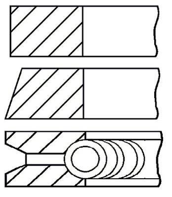 Jeu de segments de pistons GOETZE 08-336407-00