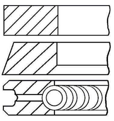 Jeu de segments de pistons GOETZE 08-501507-00
