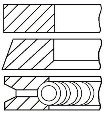 Jeu de segments de pistons GOETZE 08-337300-00