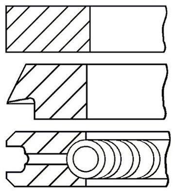 Jeu de segments de pistons GOETZE 08-521700-00