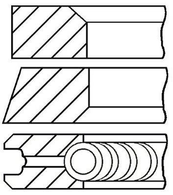 Jeu de segments de pistons GOETZE 08-109500-00