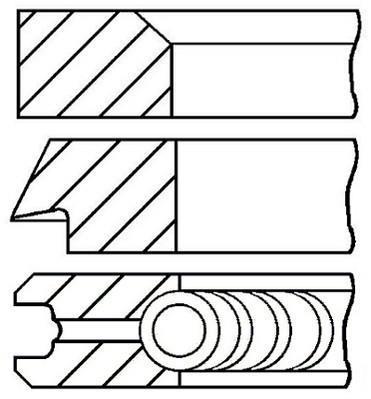 Jeu de segments de pistons GOETZE 08-702800-00