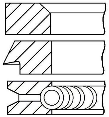 Jeu de segments de pistons GOETZE 08-780200-00