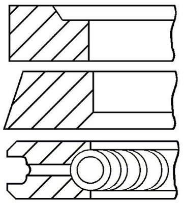 Jeu de segments de pistons GOETZE 08-421000-00
