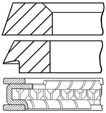 Jeu de segments de pistons GOETZE 08-394800-00