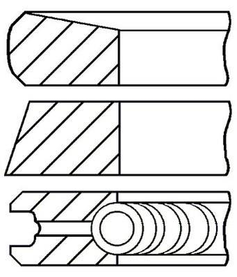 Jeu de segments de pistons GOETZE 08-526800-00