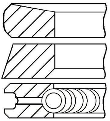 Jeu de segments de pistons GOETZE 08-422000-00