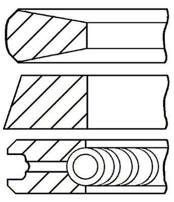 Jeu de segments de pistons GOETZE 08-431000-00