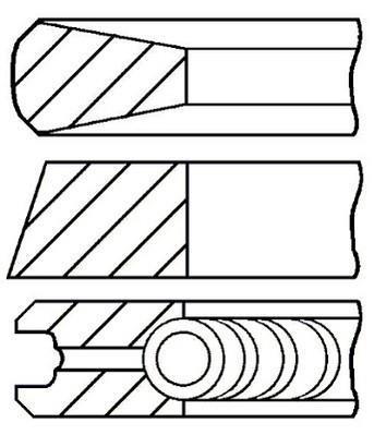 Jeu de segments de pistons GOETZE 08-140200-00