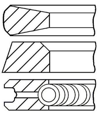Jeu de segments de pistons GOETZE 08-335300-00