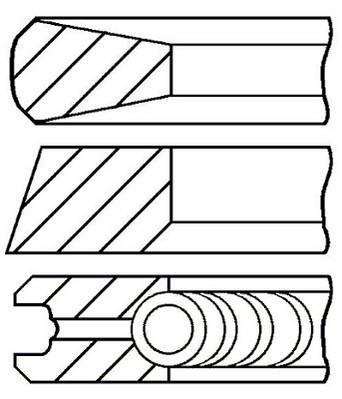 Jeu de segments de pistons GOETZE 08-430000-00