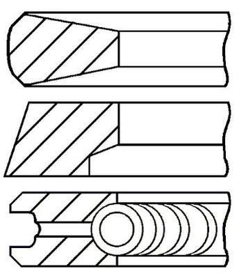 Jeu de segments de pistons GOETZE 08-740000-00