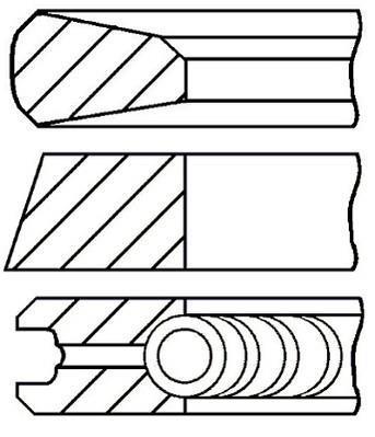 Jeu de segments de pistons GOETZE 08-785200-00