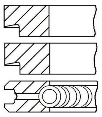 Jeu de segments de pistons GOETZE 08-145200-00