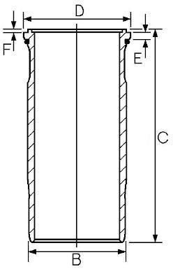Chemise de cylindre GOETZE 15-458910-00