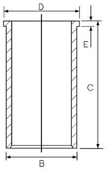 Chemise de cylindre GOETZE 14-102800-00