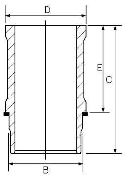Chemise de cylindre GOETZE 14-637160-00