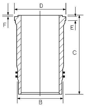 Chemise de cylindre GOETZE 14-450810-00