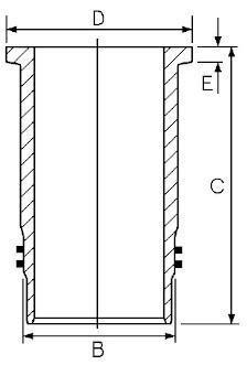 Chemise de cylindre GOETZE 14-451040-00
