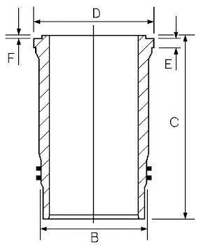 Chemise de cylindre GOETZE 14-452740-00