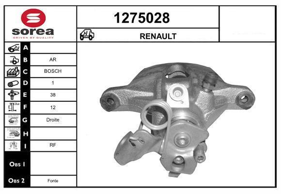 Étrier de frein SNRA 1275028