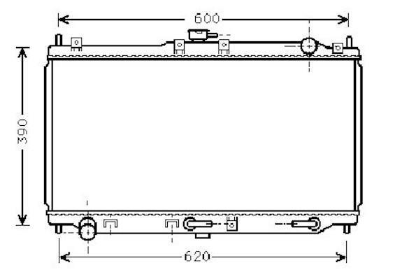 Radiateur Moteur NIPPON PIECES SERVICES M156A38