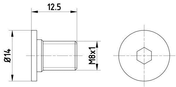 Vis, disque de frein HELLA PAGID 8DZ 355 209-021