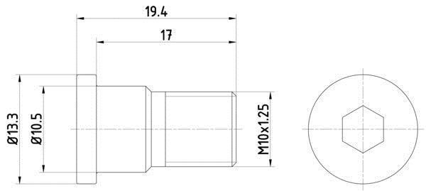 Vis, disque de frein HELLA PAGID 8DZ 355 209-071