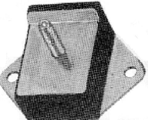 Support, suspension du moteur Metalcaucho 00408