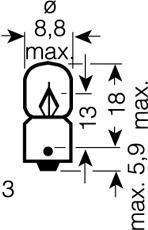 Ampoule OSRAM 3796