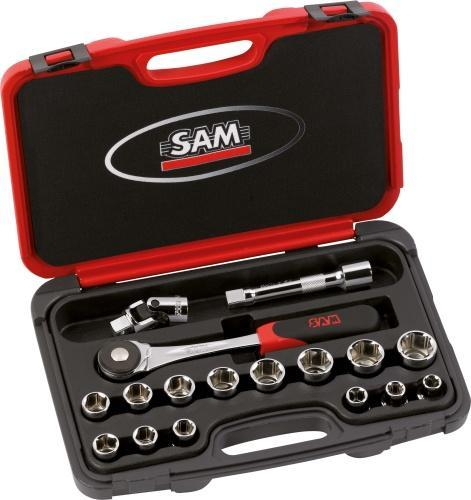 Coffret mixte cliquets et douilles SAM 75-SH17PA