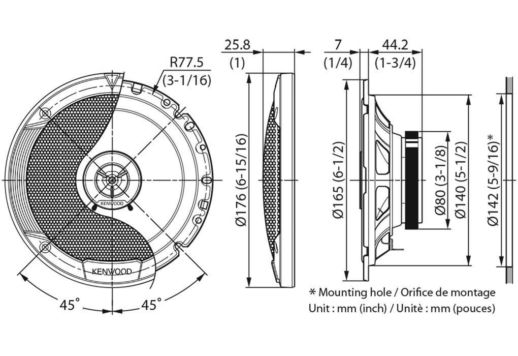 Haut-parleurs KENWOOD KFC-S1766