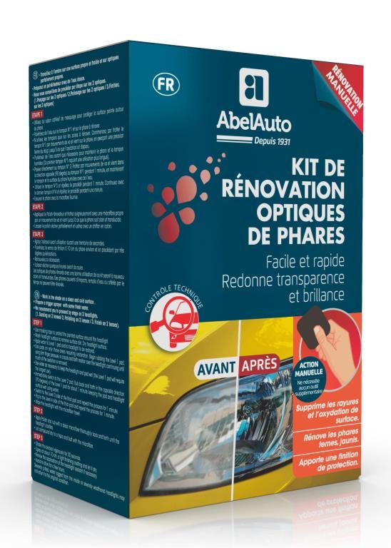 Kit rénovateur d'optiques Abel Auto 058500