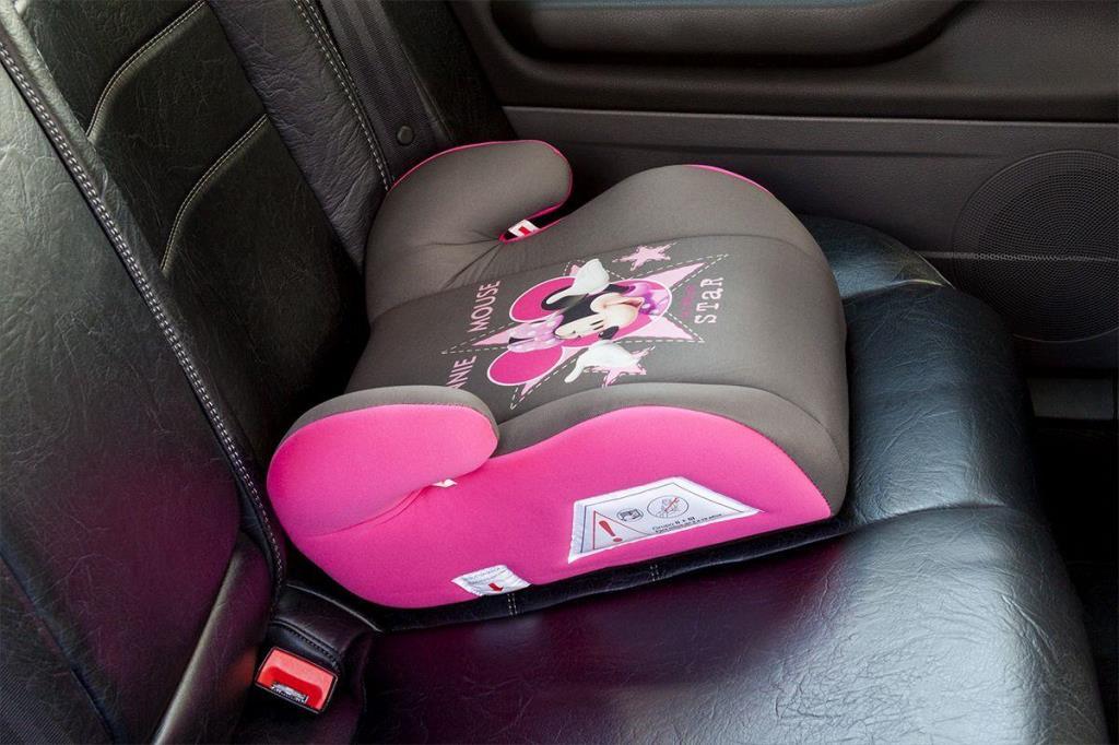 Rehausseur Disney Minnie rose/gris groupe 2/3 15-36 kg